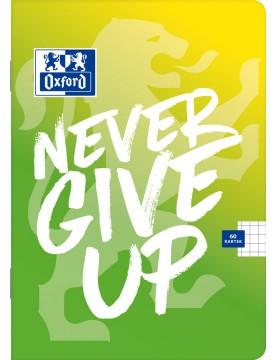 Zeszyt Oxford Never Give Up A5 60 kartek w kratkę