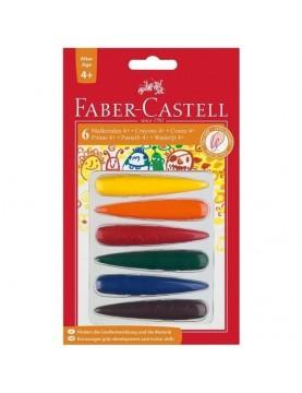Kredki świecowe Faber Castell dla dzieci – 6 kolorów